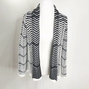 Chicos Womens Cardigan Size 1 Open Front